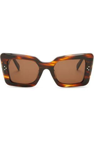 Céline Rectangular Tortoiseshell-acetate Sunglasses - Womens - Tortoiseshell