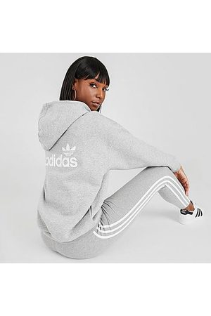 adidas Women's Originals Hoodie in Grey Size X-Small Cotton