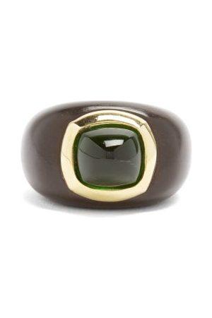 ROSA DE LA CRUZ Emerald, Ebony & 18kt Gold Ring - Womens