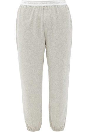Calvin Klein Logo-waistband Cotton-blend Jersey Pyjama Trousers - Mens - Grey