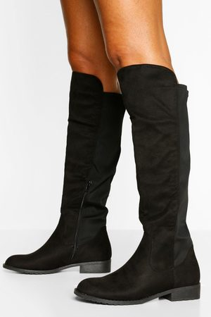 Boohoo Womens Wider Calf Knee High Riding Boots - - 5