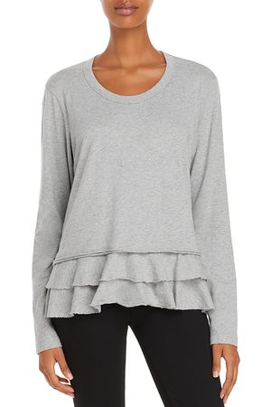 Wilt Tiered Hem Crewneck Top