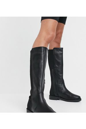 ASOS Women Thigh High Boots - Wide Fit Carson chunky flat knee boots