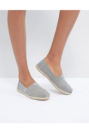 TOMS Vegan canvas role sole espadrilles in drizzle