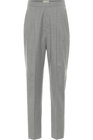 Saint Laurent High-rise tapered wool pants