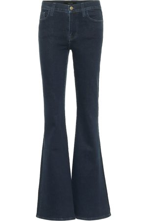 J Brand Valentina high-rise flared jeans