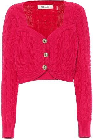 Diane von Furstenberg Zoya cable-knit wool-blend cardigan