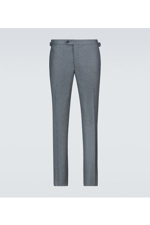 Thom Sweeney Flannel flat front pants