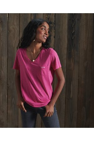 Superdry Women T-shirts - Organic Cotton Essential V-Neck T-Shirt