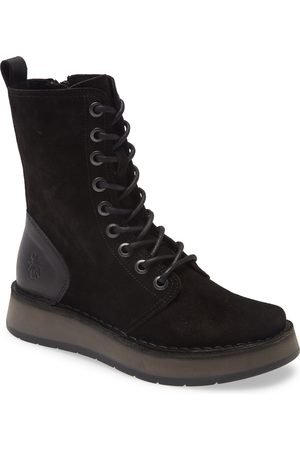 Fly London Women's Rami Platform Lace-Up Boot