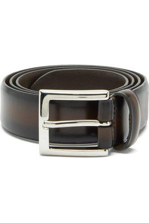 Anderson's Distressed-leather Belt - Mens - Dark