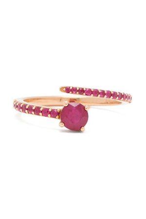 Ileana Makri Grass Seed Ruby & 18kt Rose Ring - Womens