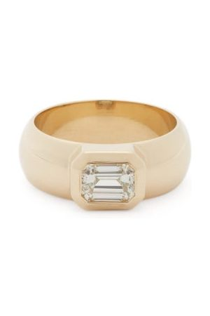 Zoe Chicco Diamond & 14kt Wide-band Ring - Womens