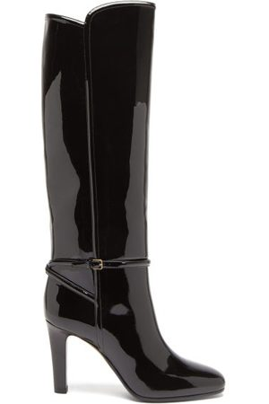 Saint Laurent Romy Knee-high Patent-leather Boots - Womens