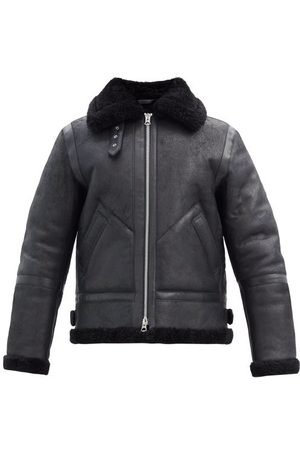 Acne Studios Ian Leather And Shearling Jacket - Mens