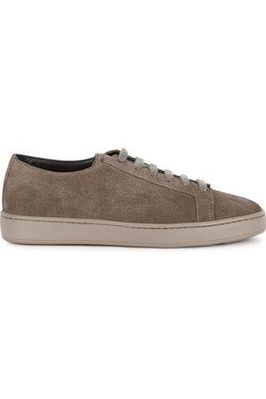 santoni Men Sneakers - Taupe suede sneakers