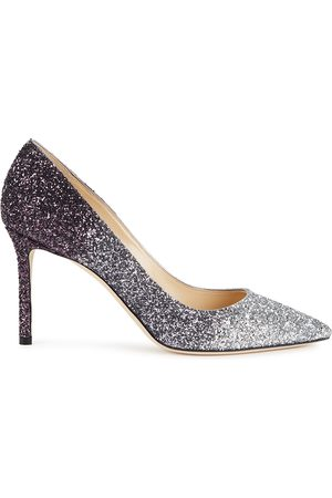 Jimmy Choo Romy 85 dégradé glittered leather pumps