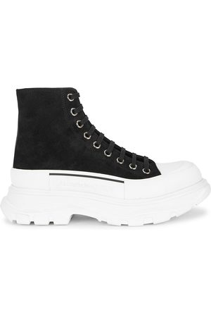 Alexander McQueen Tread Slick suede hi-top sneakers