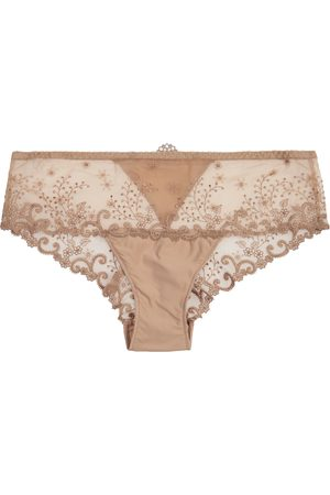 Simone Pérèle Delice embroidered tulle briefs