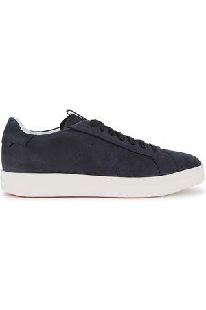 santoni Navy suede sneakers