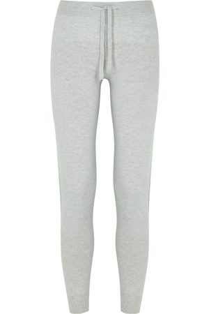 Johnstons Of Elgin Loretta light grey cashmere sweatpants