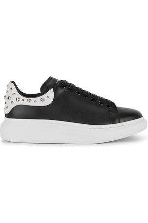 Alexander McQueen Men Sneakers - Larry studded leather sneakers