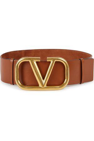 VALENTINO Women Belts - Garavani VLogo reversible suede belt