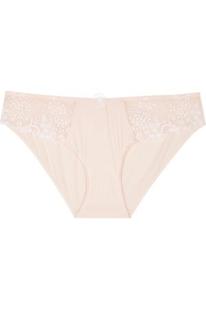 Simone Pérèle Délice blush lace-panelled briefs