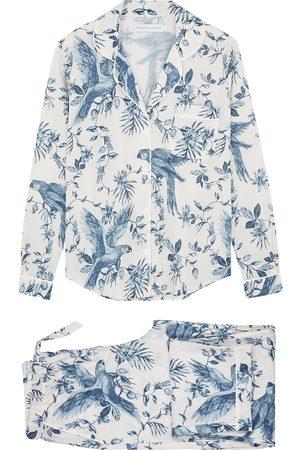 Desmond & Dempsey Women Sweats - Bromley Parrot printed cotton pyjama set