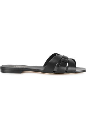 Saint Laurent Tribute leather sliders