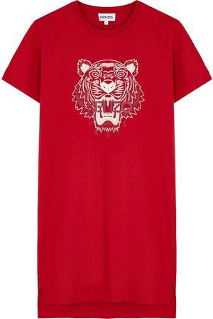 Kenzo Women Printed Dresses - Tiger-print cotton T-shirt dress