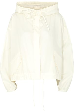 Jil Sander Off- logo-print cotton poplin jacket
