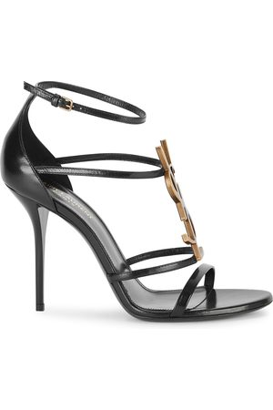 Saint Laurent Cassandra 100 leather sandals