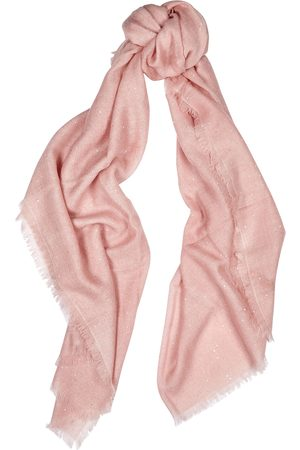 AMA Pure Light embellished cashmere scarf