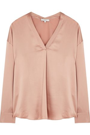 Vince Dusky silk-satin blouse