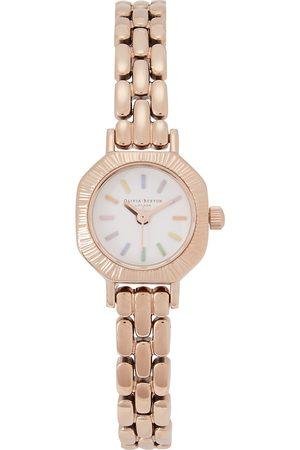 Olivia Burton Rainbow Mini rose gold-tone watch