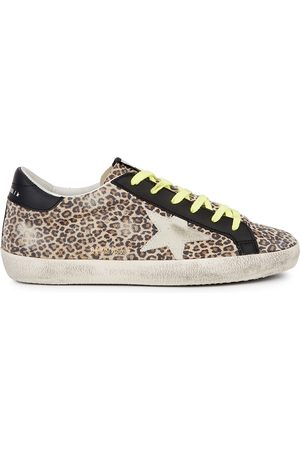 Golden Goose Superstar leopard-print suede sneakers