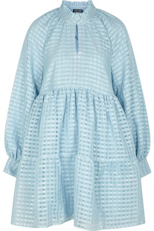 STINE GOYA Jasmine checked mini dress