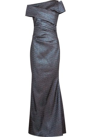 TALBOT RUNHOF Bozza metallic-weave one-shoulder gown