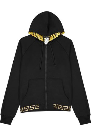 VERSACE Hooded jersey sweatshirt