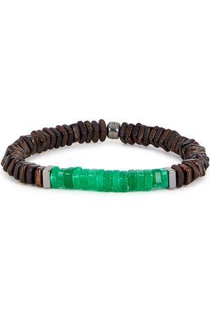 Tateossian Legno medium sterling-silver beaded bracelet