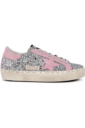 Golden Goose Hi Star glittered flatform sneakers