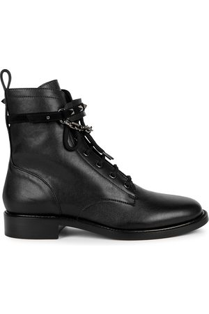 VALENTINO Garavani Rockstud leather biker boots