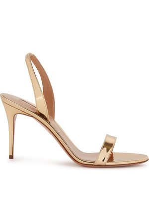 Aquazzura So Nude 105 leather sandals