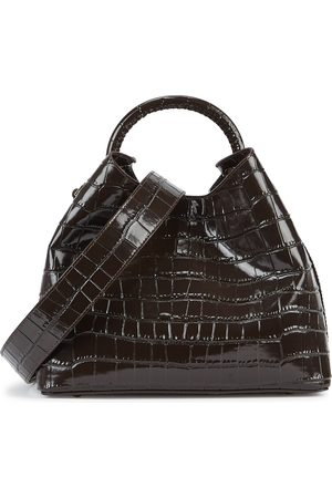 Elleme Raisin crocodile-effect leather top handle bag