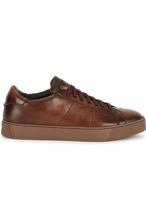 santoni Gloria leather sneakers