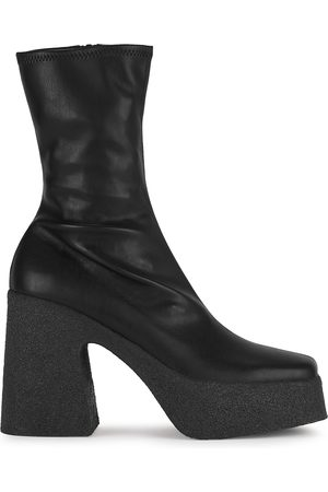 Stella McCartney 115 faux leather platform ankle boots