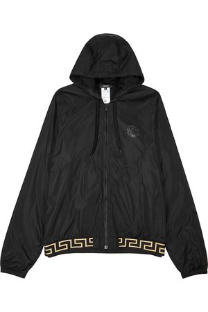 VERSACE Hooded shell jacket