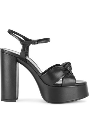 Saint Laurent Bianca 130 leather platform sandals