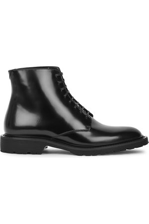 Saint Laurent Army glossed leather ankle boots